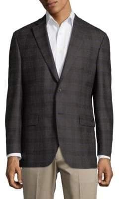 Jack Victor Windowpane Wool Jacket