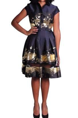 Alberto Makali Metallic Shirt Dress