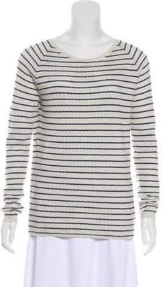 Massimo Alba Perforated Striped Sweater