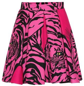 Valentino Printed silk and wool skirt