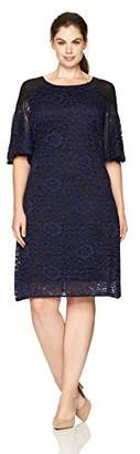 Julian Taylor Women's Plus Size Full Figured Lace Dress