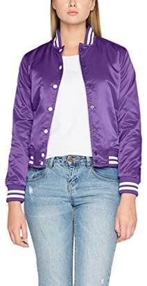 Urban Classic Women's Ladies Shiny College Jacket,L