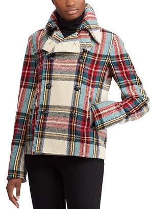 Ralph Lauren Plaid Pea Coat