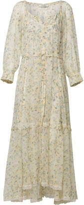 Schumacher Dorothee Fragile Flowering Tiered Silk Maxi Dress
