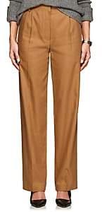 The Row Women's Thea Piqué Linen-Cotton Cargo Trousers-Ochre