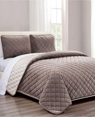 Riverbrook Home Diamond Quilt 2-Pc. Twin Velvet Coverlet Set