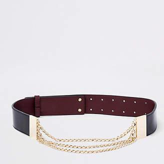 River Island Black snake chain waist belt