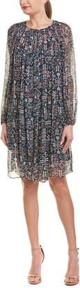 Isabel Marant Etoile Geometric Long-Sleeve Flared Dress