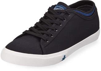 Original Penguin Men's Damon Canvas Low-Top Sneakers, Black/Blue