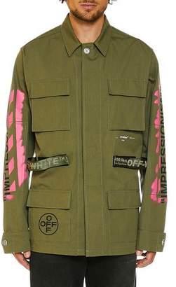Off-White Men's Arrows Field Military Jacket