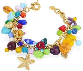 Antica Murrina Veneziana Marilena - Murano Glass Marine Gold Plated Bracelet