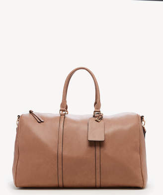 Sole Society Women's Lacie Weekender Vegan Leather In Color: Taupe Bag From