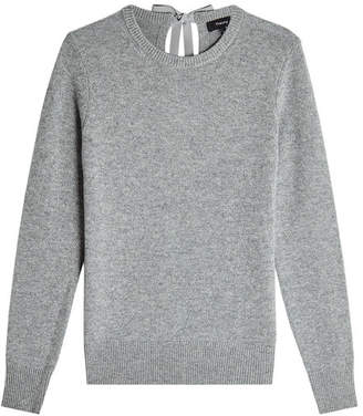 Theory Cashmere Pullover with Self-Tie Bow