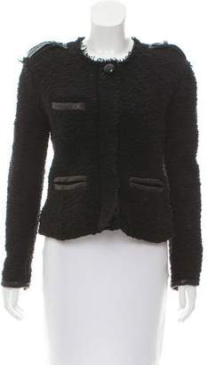 Etoile Isabel Marant Leather-Trimmed Tweed Jacket