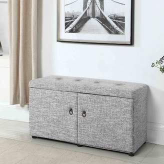 Andover Mills Argent Traditional Upholstered Shoe Storage Bench