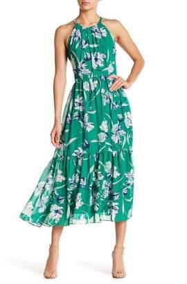 Eliza J Halter Neck Floral Dress