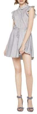 BCBGeneration Angel-Wing Striped Fit-And-Flare Dress
