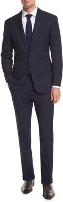 Ralph Lauren Two-Button Wool Plaid Suit