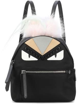 Fendi Fur-trimmed mini backpack