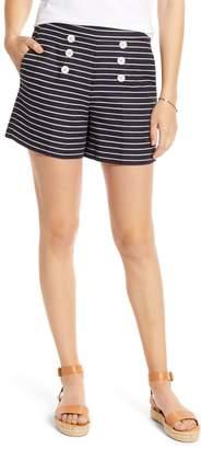 1901 Textured Stripe Cotton & Linen Sailor Shorts