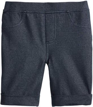 Epic Threads Toddler Girls Denim-Knit Bermuda Shorts