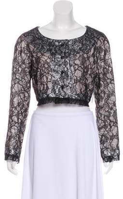 Rochas Silk-Blend Lace Jacket