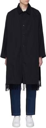 FFIXXED STUDIOS Fringe scarf panel wool coat