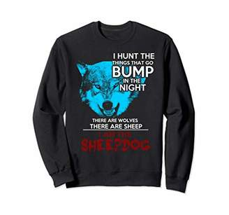 Hunter I Am The Sheepdog Wolf Head Silhouette Sweatshirt