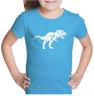 La Pop Art Girl Word Art T-Shirt - Tyrannosaurus Rex