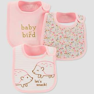 Carter's Just One You made by carter Baby Girls' Hedge Hog Bib - Just One You® made by OSZ Pink