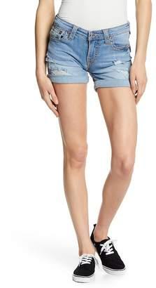 True Religion Curvy Fit Big T Shorts