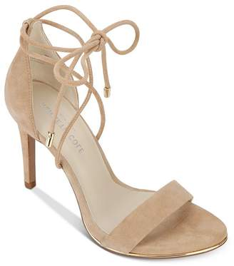 Kenneth Cole Berry Suede Ankle Tie High-Heel Sandals