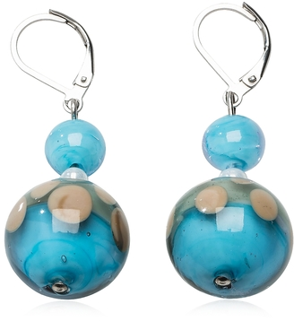 Antica Murrina Papaya 1 Light Blue Murano Glass Earrings $55 thestylecure.com