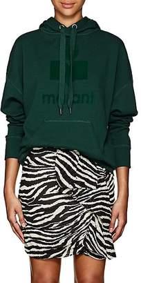 Etoile Isabel Marant Women's Mansel Logo Cotton-Blend Fleece Hoodie - Dk. Green