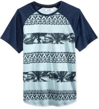 Univibe Men's Juarez Graphic-Print Stripe Raglan-Sleeve Cotton T-Shirt $30 thestylecure.com