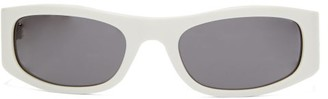 Celine Oval Acetate Sunglasses - Womens - White