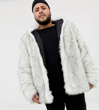 Asos Design DESIGN Plus faux fur bomber in white