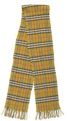 Burberry Wool & Cashmere-Blend Check Scarf