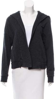James Perse Hooded Open-Front Cardigan