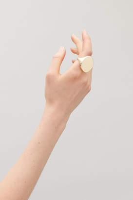 Cos GOLD-PLATED STATEMENT RING