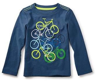 Tea Collection (ティコレクション インポート 子供服 男の子 コットン グラフィック 長袖 Tシャツ 自転車 7F22115-A92 A92 ネイビー 3T(3~4歳):日本サイズ約95~100cm