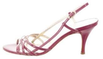 Dolce & Gabbana Patent Leather Multistrap Sandals
