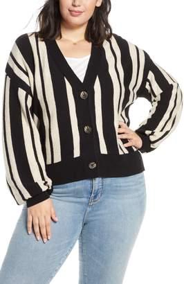 BP Stripe Crop Cardigan