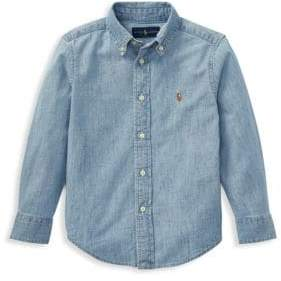 Ralph Lauren Little Boy's& Boy's Chambray Button Down Shirt