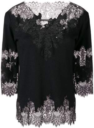 Ermanno Scervino lace embroidered sweater