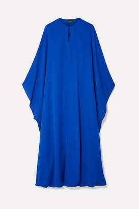 Reem Acra - Draped Silk-georgette Midi Dress - Royal blue