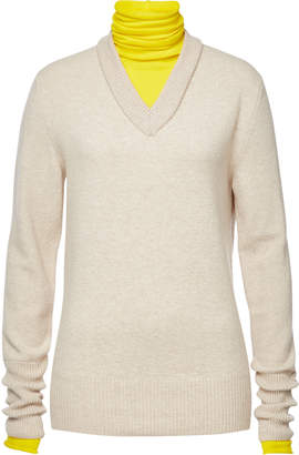 Joseph Wool Pullover with Turtleneck Underlay