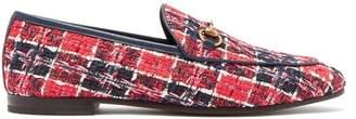 Gucci Jordaan Check Tweed Loafers - Womens - Red Navy