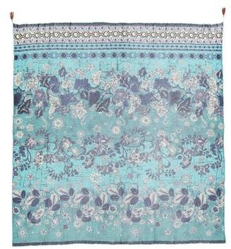 Women's Fuzzi Beaded Batik Print Scarf $255 thestylecure.com