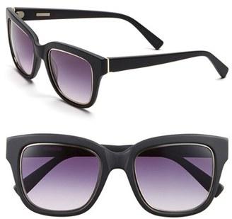 Women's Derek Lam 'Spring' 51Mm Sunglasses - Matte Black $320 thestylecure.com